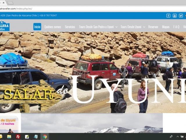 Sitio Web para agencia de turismo Cordillera Traveller