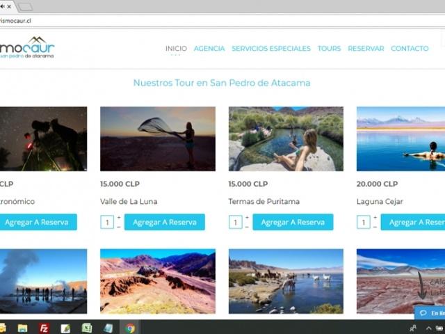 Sitio Web para agencia de turismo Turismo Caur
